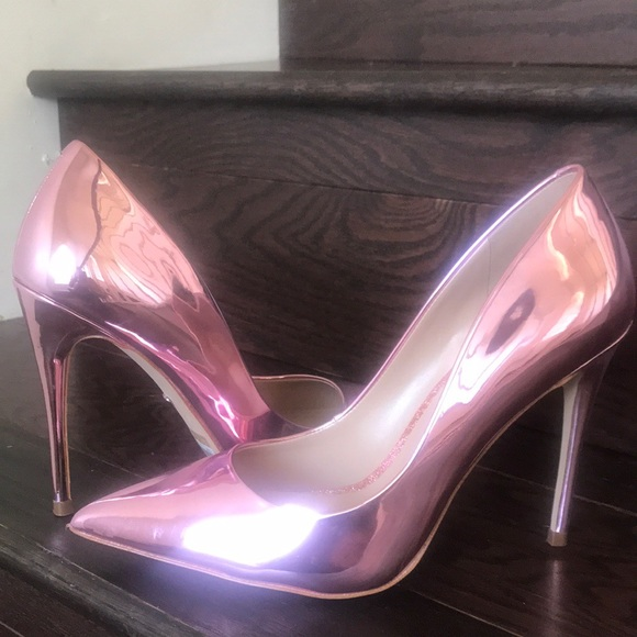 Aldo Limited Edition Pink Metallic Stiletto Pump